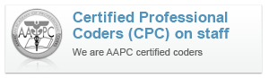 AAPC Certifed Coder on Staff!